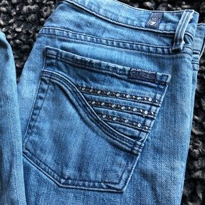 7 for all mankind flare jeans righstones pocket 31